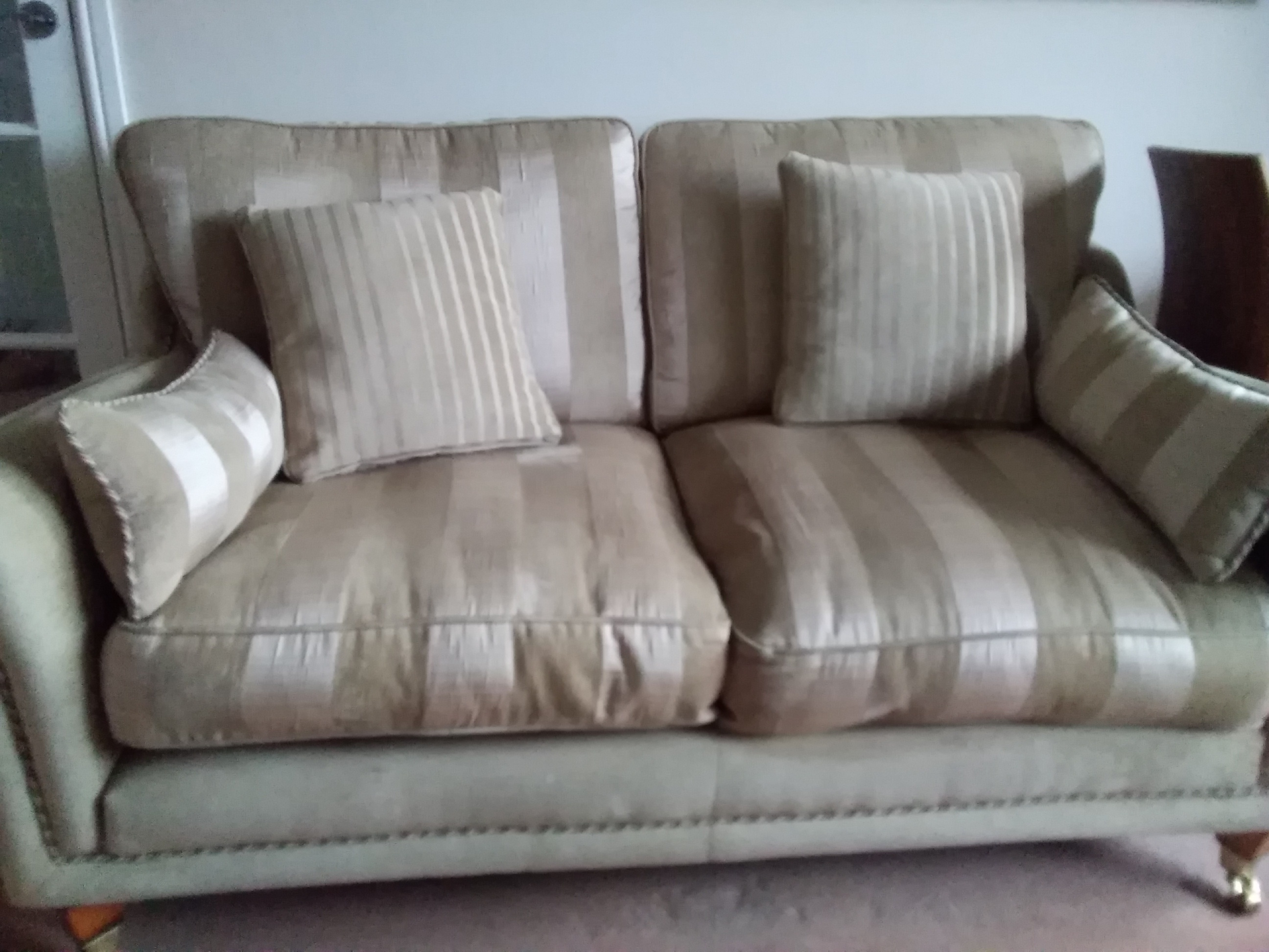 For sale: For Sale 2 x 2 seaters Sofas beige material