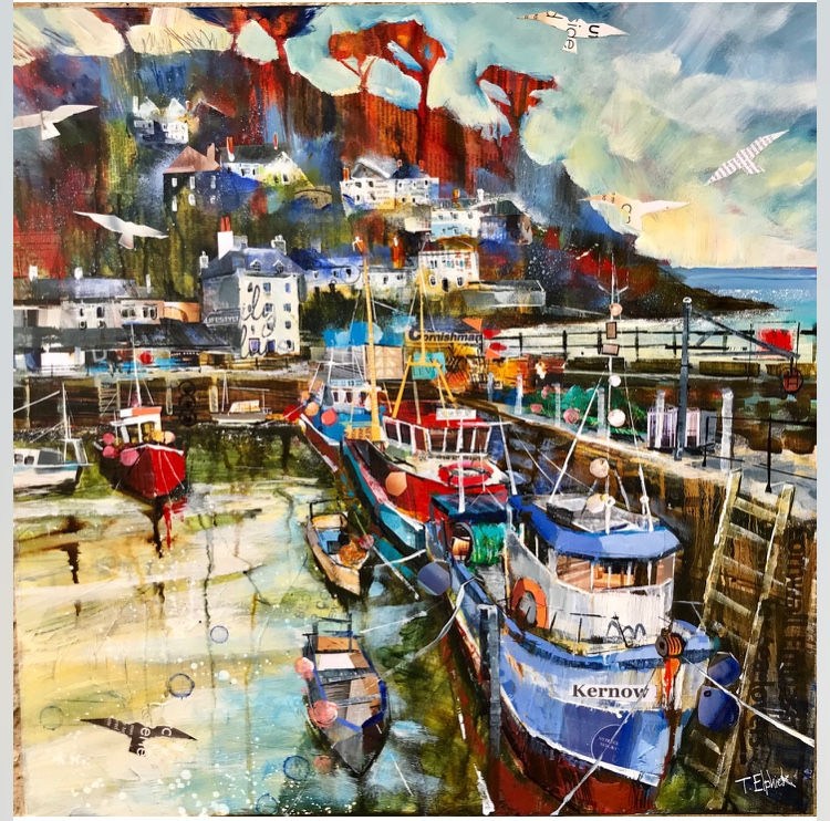 Tracey Elphick Harbour Painting