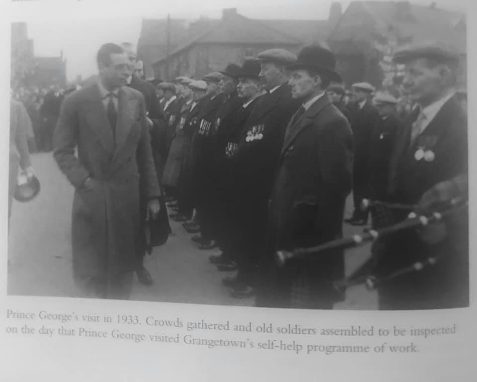 history -future King George visits Grangetown