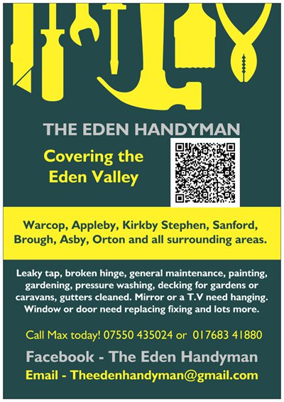 The Eden Handyman In Warcop Address Telephone Number And Opening Hours And Times Handyman In