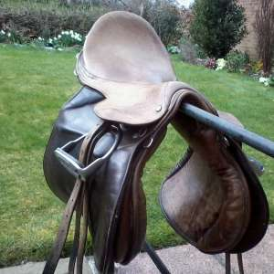 For sale: Leather saddle.  General purpose. 18 inch. - £50