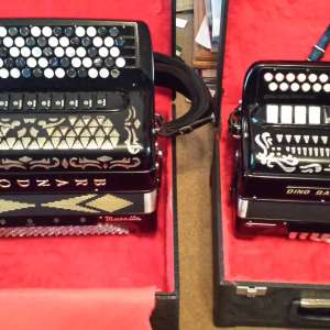 For sale: Selection of piano and button Accordions