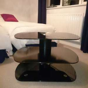 For sale: Glass TV stand. - £30