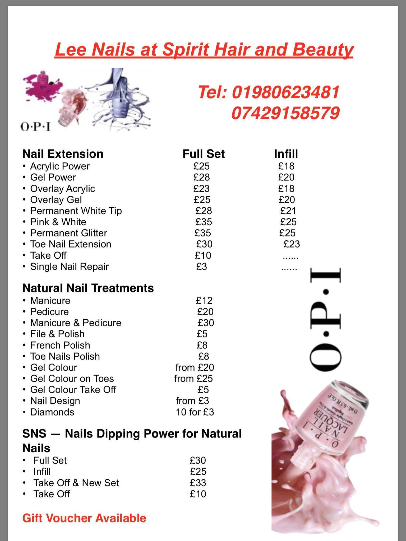 Lee Nails at Spirit Hair and Beauty in Amesbury: address, telephone ...