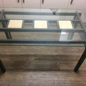 For sale: Glass top glass table