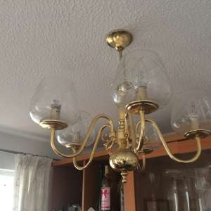 For sale: Metal and glass ceiling lights