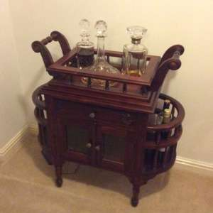 For sale: Mahogany drinks cabinet - £50