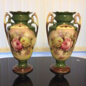 For sale: Pair Victorian vases £60 OVNO
