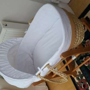For sale: John Lewis baby moses basket & baby bouncer chair & high chair