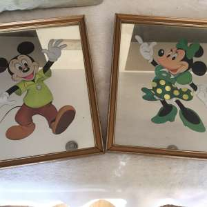 For sale: Two mirrors with Micky mouse and mini mouse on collectables - £20