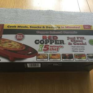 For sale: Red Copper 5 minute chef