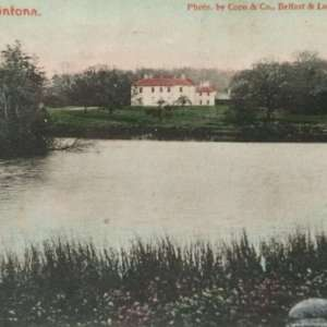 FINTONA COUNTY TYRONE, NORTHERN IRELAND MULTIVIEW POSTCARD