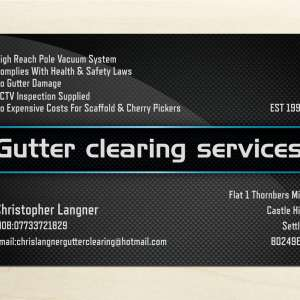 Chris Langner Gutter Clearing services