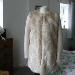 For sale: Ladies brand new  fur coat from a m london designers at Next # size 10 - £30