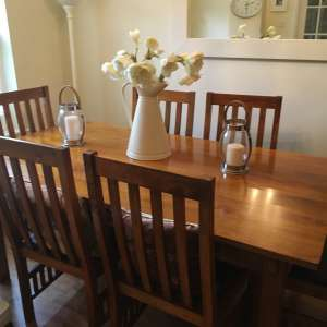 For sale: John Lewis Hard Wood Dining Table and 6 Chairs.