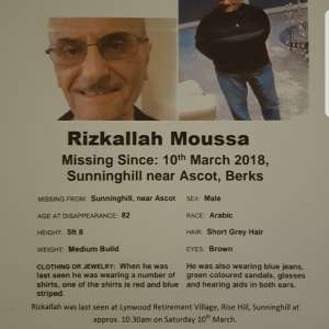 Missing Man with Alzheimers