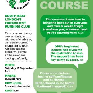 Running course - 8 weeks starting 15 September